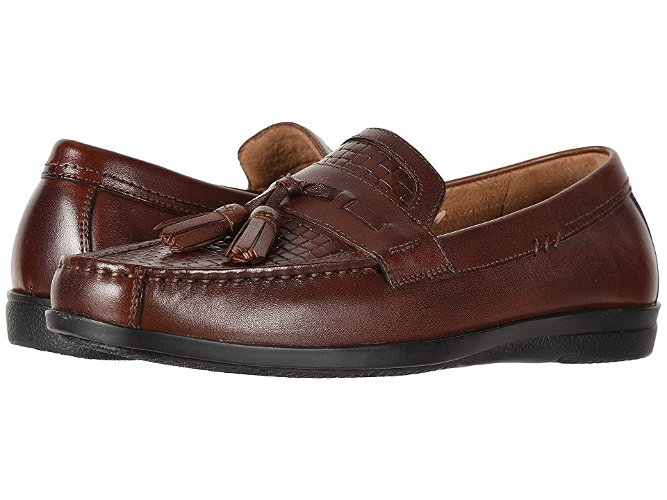 Dockers Manheim Tassel Loafer (Antique Brown Burnished Full Grain/Woven Embossed) Men