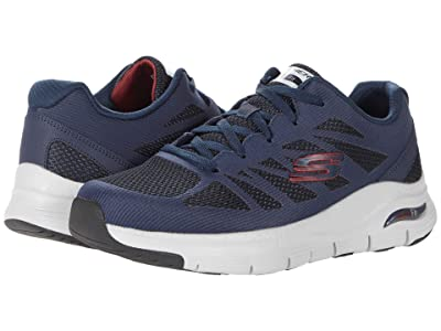 SKECHERS Arch Fit Charge Back (Navy/Red) Men