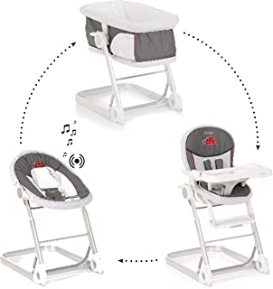 iCoo Grow With Me 1 2 3, High Chair Set, 0M+ to 15kg - Bug Grey
