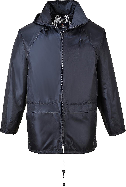 Portwest US440NARXXL Regular Fit Classic Rain Jacket, XX-Large, Navy