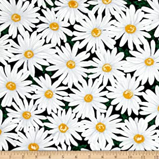 Poppies and Daisies on Beige Cotton Fabric all urs 4 1 price