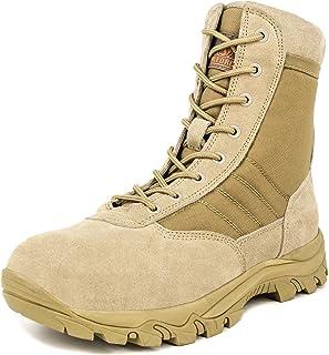 Milforce Men s 8 inch Military Tactical Boots Lightweight Combat Desert  Shoes with Side Zipper 84e96130a68