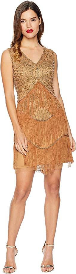 1920s Beaded Renee Fringe Cocktail Dress