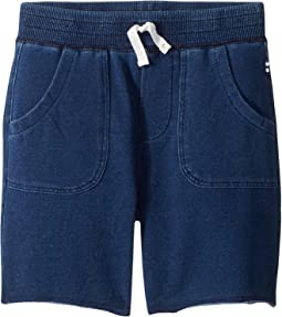 Baby French Terry Indigo Shorts (Toddler/Little Kids/Big Kids)