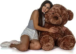 Giant Teddy Original Bear Brand - Biggest Selection of Life Size Stuffed Teddy Bears (Mocha Brown, 4 Foot)