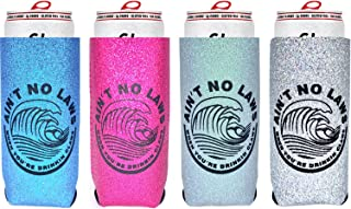 White Claw Coozie Slim Can Cooler [ 4 Pack ], Ain't No Laws When You're Drinking Claws, Skinny Beer Cans Coolie Skinny Insulators, White Claw Can Cooler Sleeve
