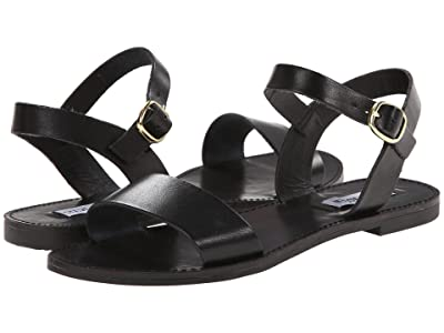 Steve Madden Donddi Sandal (Black Leather) Women