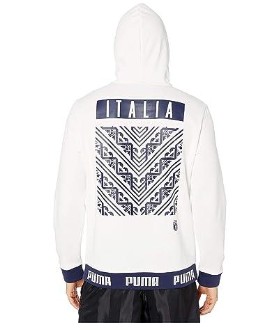 PUMA FIGC FTBL Culture Hoodie (Puma White/Peacoat) Men