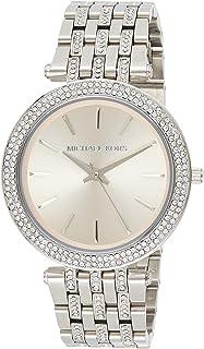 Silver-Tone Glitz Rose Dial Darci Watch