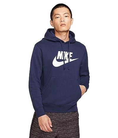 Nike NSW Club Hoodie Pullover Graphics (Midnight Navy/Midnight Navy/White) Men