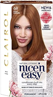 Clairol Nice 'n Easy Permanent Color, 6R/110 Natural Light Auburn 1 kit (Pack of 5)