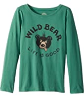 Life is Good Kids Wild Bear Long Sleeve Crusher Tee (Little Kids/Big Kids)