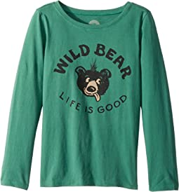 Wild Bear Long Sleeve Crusher Tee (Little Kids/Big Kids)