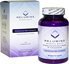 Relumins Advance White 1650mg Glutathione Complex - 15x Dermatologic Formula with Advanced Skin Nutrients