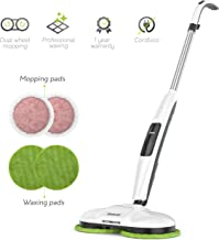 Gladwell Cordless Electric Mop - 3 in 1 Spinner, Scrubber and Waxer Quiet and Powerful Cleaner, Spin Scrubber & Buffer, Polisher for Hard Wood, Tile, Vinyl, Marble And Laminate Floor - 1 Year Warranty