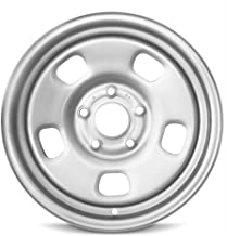 Road Ready Car Wheel For 2013-2019 Dodge Ram 1500 17 Inch 5 Lug Silver Steel Rim Fits R17 Tire - Exact OEM Replacement - Full-Size Spare