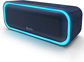 $49 » DOSS SoundBox Pro Portable Wireless Bluetooth Speaker with 20W Stereo Sound, Active Extra Bass, Wireless Stereo Paring, Multiple Colors Lights, Waterproof IPX5, 10 Hrs Battery Life - Blue