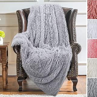 faux fur throw blanket grey