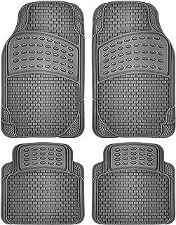 OxGord Universal Fit 4-Piece Full Set Eagle Heavy Duty Rubber Floor Mat - (Gray)