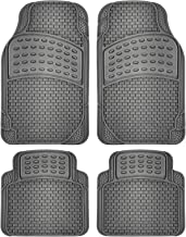 OxGord Universal Fit 4-Piece Full Set Eagle Heavy Duty Rubber Floor Mat - (Gray)