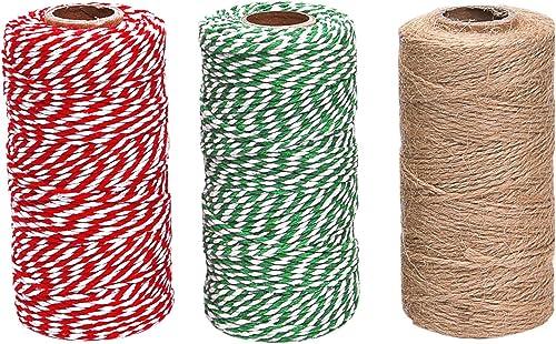 Natural Fiber Rope Cotton Cooking Twine Lashings Craft DIY String Gardening Oven