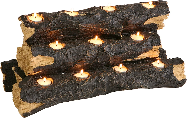 Furniture HotSpot Resin Tealight Fireplace Log