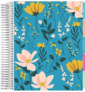 $35 » Erin Condren 12 - Month 2021 Coiled Life Planner (January - December 2021) - Wild Flowers Cover, Vertical Weekly Layout, F...