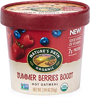 Nature's Path Organic Oatmeal Cup, Summer Berries, 1.94 Oz Container (Pack of 12)