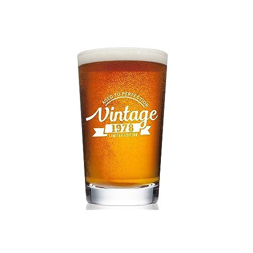 1978 41st Birthday Beer Pint Glass For Men Or Women