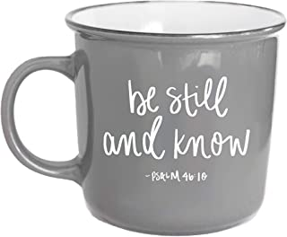 Sweet Water Decor Religious Coffee Mugs | Inspirational Bible Verse 14oz Ceramic Campfire Coffee Cup | Microwave & Dishwas...