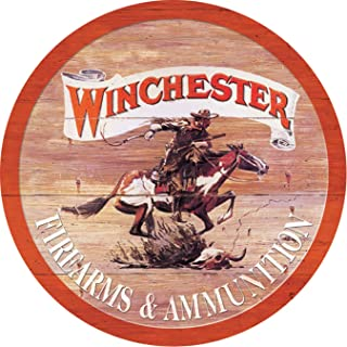 Desperate Enterprises Winchester Express Round Tin Sign, 11.75