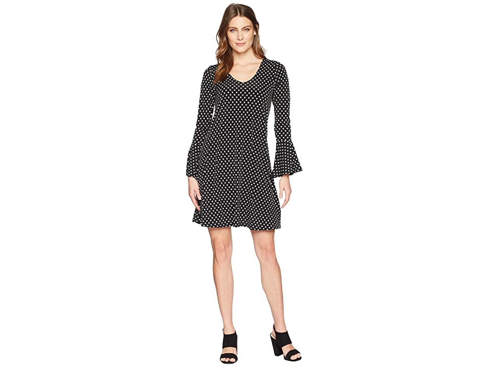Karen Kane Flare Sleeve Dress (Dot Print) Women