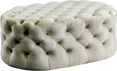 HOMES: Inside + Out Ottomans, Beige