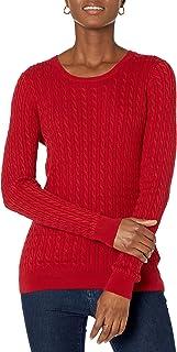 Amazon Essentials Women's Lightweight Cable Crewneck Sweater