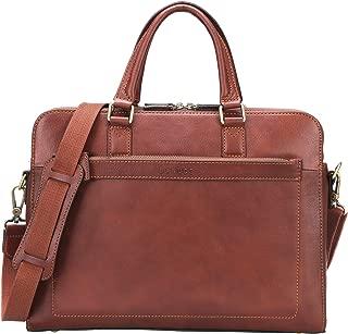 Banuce Full Grains Italian Leather Briefcase for Men 14 Inch Laptop Bags Business Attache Case Tote Handbags Satchel Messenger Bag