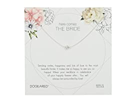 Here Comes the Bride Flower Card Pave Sparkle Ball Necklace