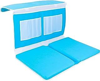 JNSM Products Baby Bath Kneeler Mat - Anti Slip, Industrial Layered Foam Mat 4 XL Storage Pockets