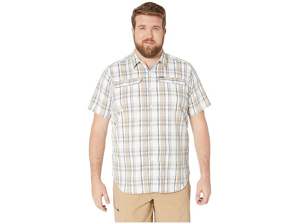 Columbia Big and Tall Silver Ridge 2.0 Multi Plaid Short Sleeve Shirt (Beach Plaid) Men