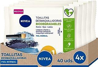NIVEA Verfrissende make-up doekjes in verpakking van 4 (4 x 40 stuks), make-up remover doekjes voor normale en gemengde hu...
