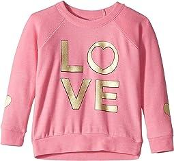 Extra Soft Golden Love Print Pullover Sweater (Toddler/Little Kids)