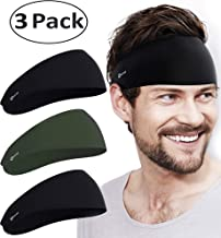 Self Pro Mens Headbands - Guys Sweatband & Sports Headband for Running, Crossfit, Working Out, Racquetball - Performance Stretch & Moisture Wicking
