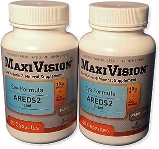 MedOp MaxiVision® Eye Formula - 60 Capsules, 2 Bottles