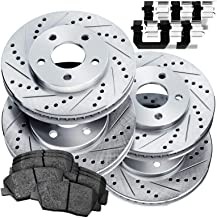 Premium Disc Brake Rotors /& Ceramic Pads Tovasty Front and Rear Brake Kit /& Hardware Clips /& Brake Cleaner /& Gloves for 13 2013 14 2014 15 2015 16 2016 Ford Escape with Front rotor size 300MM only BK25293080102