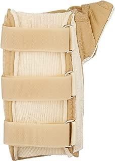Rolyan D-Ring Wrist and Thumb Spica Splint, Wrist Brace for Carpal Tunnel, Wrist Brace for Tendonitis, Thumb Stabilizer, Wrist Splint, Thumb Spica Splint, Thumb Brace, Wrist Spica, Left Hand, Medium