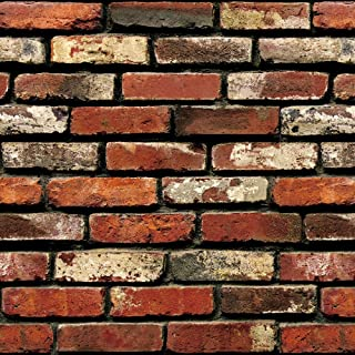 """Brick Peel and Stick Wallpaper - Brick Wallpaper - Easily Removable Wallpaper - 3D Wallpaper Brick Look – Use as Wall Paper, Contact Paper, or Shelf Paper - 17.71"""" Wide x 197"""" Long - 24.22 sq. ft. (4)"""