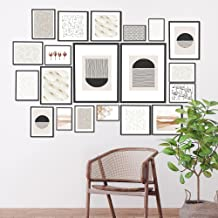 Cooper & Co. Instant Gallery Wall 20 Pieces Photo Frame Set, Black