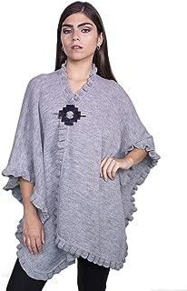 Raymis * 羊驼毛秘鲁女式手工针织斗篷披肩