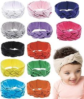 8-12 Pack Baby Girl Cute Headband Headwraps Elastic Bunny Ears Hair Band Holder