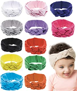 6-12 Pack Baby Girl Cute Headband Headwraps Elastic Bunny Ears Hair Band Holder