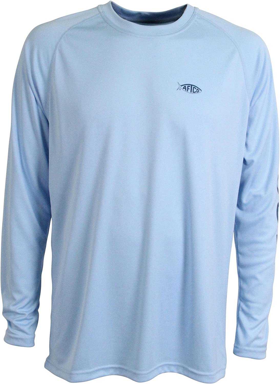 AFTCO Samurai Max 79% OFF Luxury Performance Long Sleeve - Large Sky Shirt